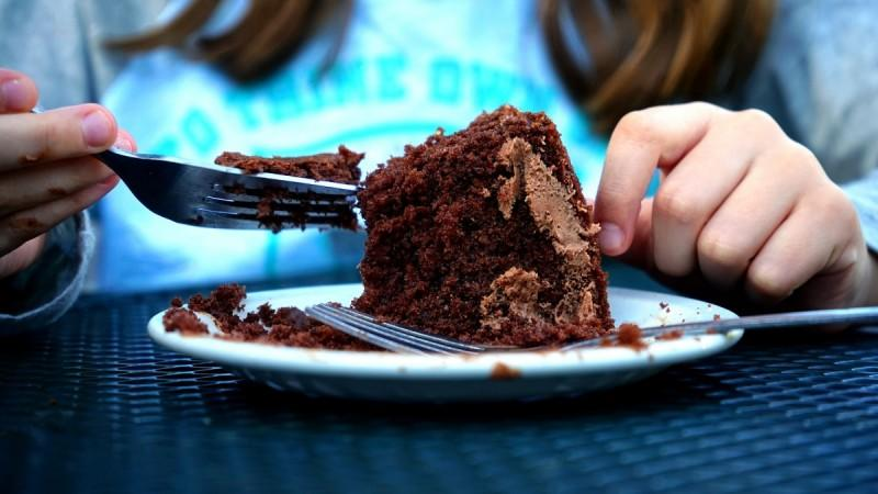 Losing weight with chocolate cake